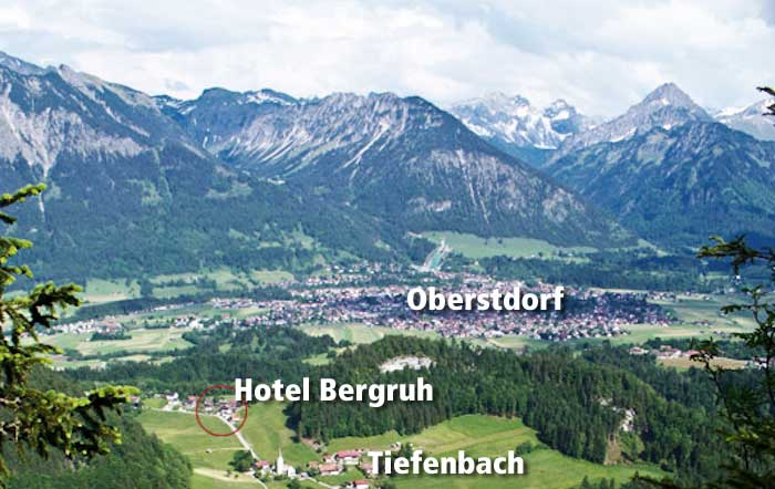 Hotel Bergruh in Tiefenbach - Oberstdorf - Allgäu