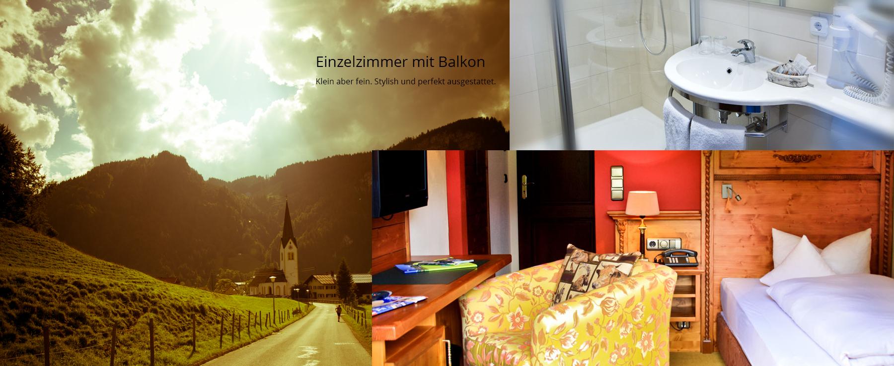 Einzelzimmer mit Balkon