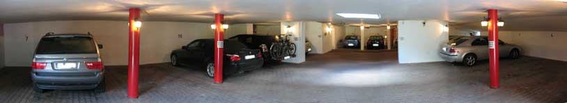 Tiefgarage im Hotel Bergruh