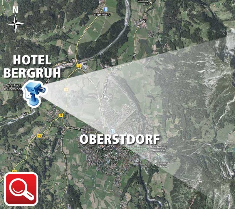 Hotel Bergruh Webcam Position