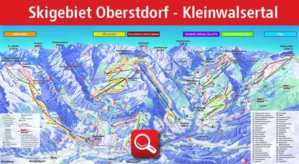 Panoramakarte Skigebiet Oberstdorf Kleiwalsertal > zum vergrössern klicken!